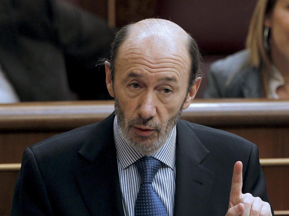 El ministro del Interior, Alfredo Pérez Rubalcaba