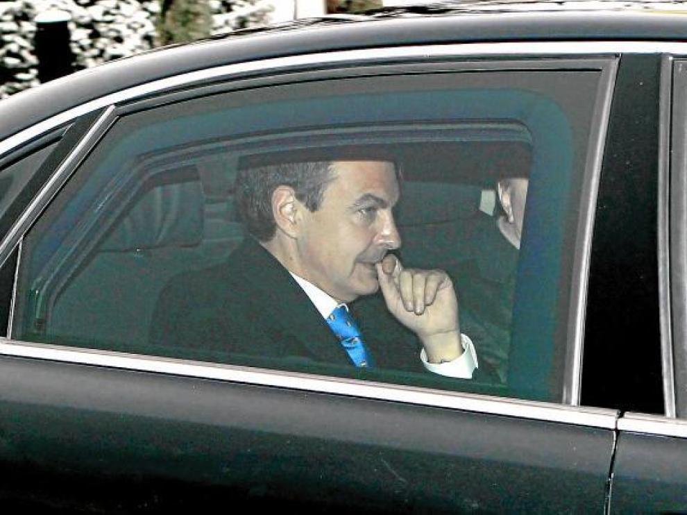 El presidente del Gobierno, José Luis Rodríguez Zapatero, ayer en Zúrich.