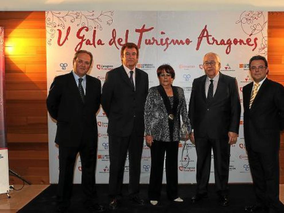 Jorge Moncada, Antonio Carmona, Mª Carmen Calvo, José Ángel Biel y Javier Ariza.