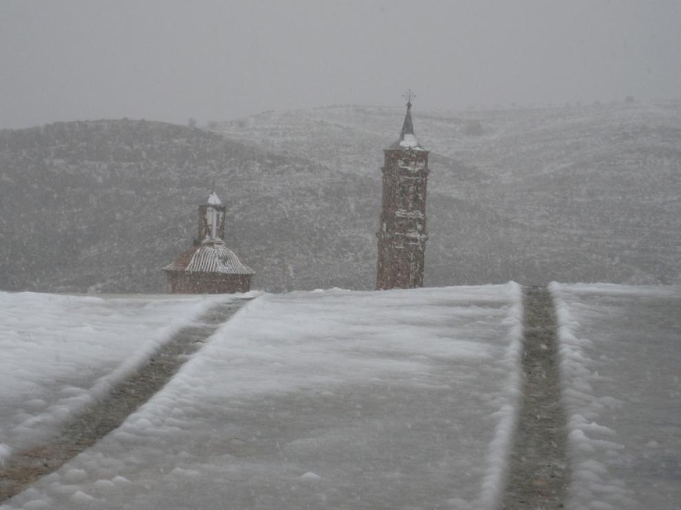 Luis Martin Nebra nos envía esta foto de la nieve en Josa (Teruel)