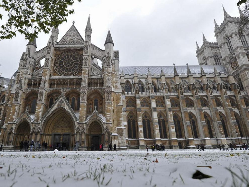 La abadía de Westsminster nevada