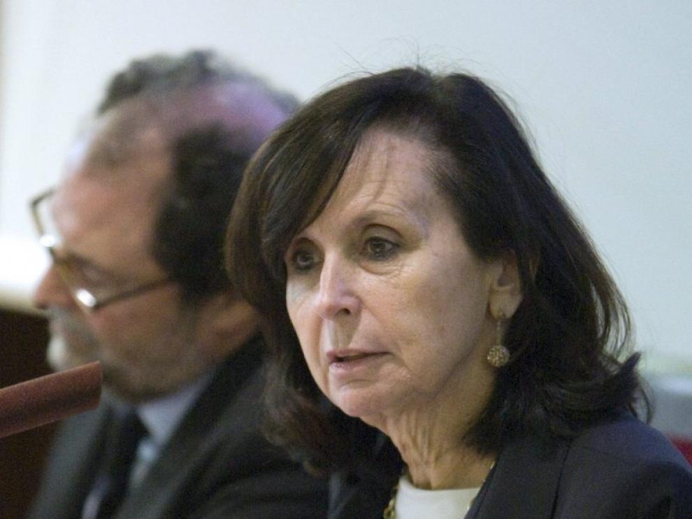 La presidenta del Tribunal Constitucional, María Emilia Casas, en Zaragoza