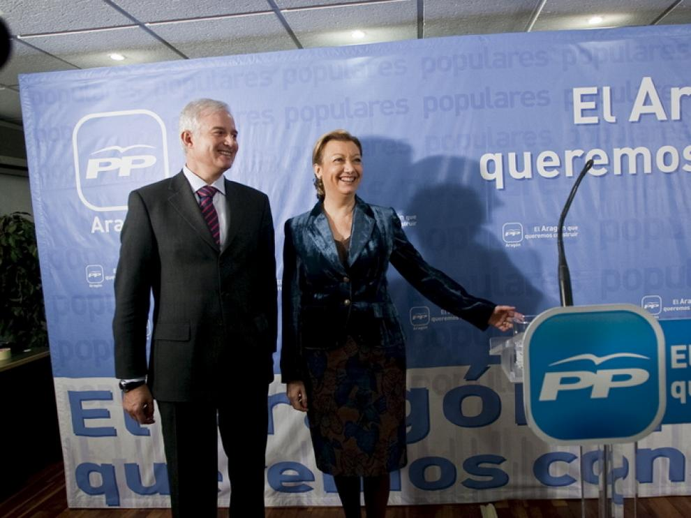 Suárez y Rudi, hoy, en Zaragoza