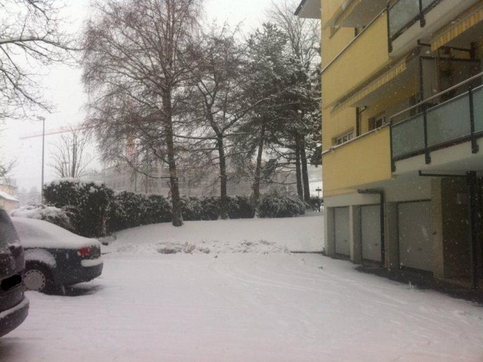 Nieve en Lausana
