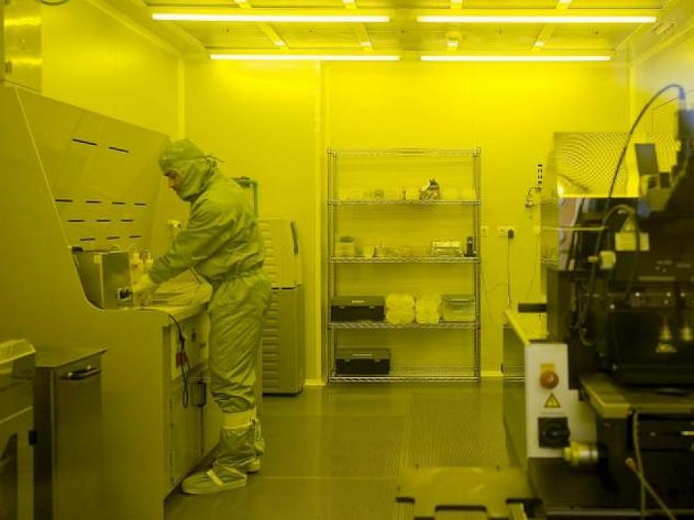 Instalaciones del edificio de institutos de investigación de la Universidad.