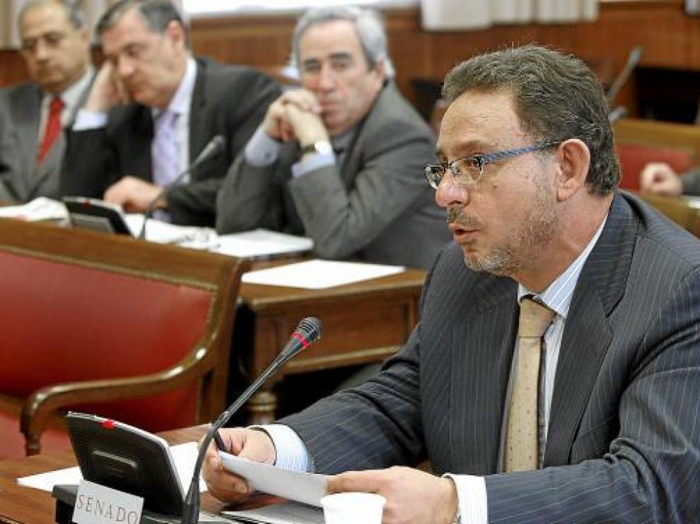 El senador popular Francisco Utrera, el pasado jueves en la Cámara alta.