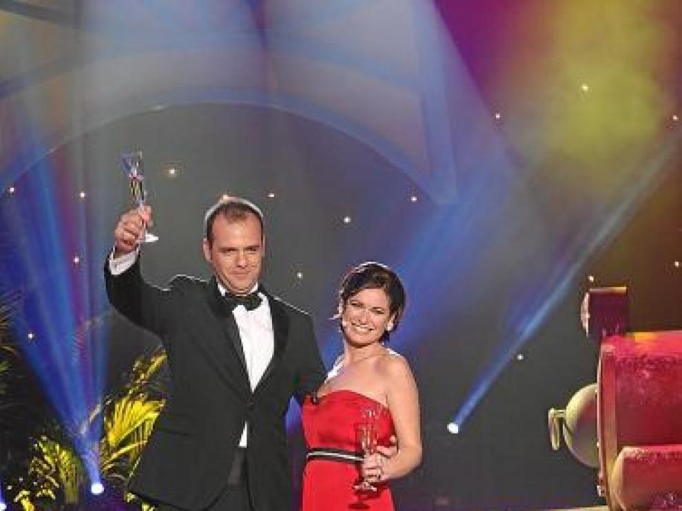 Adriana Abenia y Jesús Nadador darán las campanadas de Fin de Año en Aragón TV