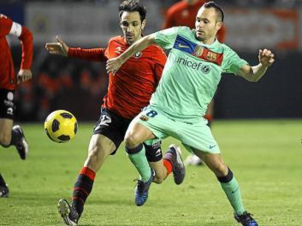 Iniesta, en el partido del pasado sábado frente a Osasuna.