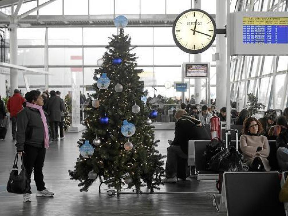 Foto de archivo del aeropuerto de Zaragoza.
