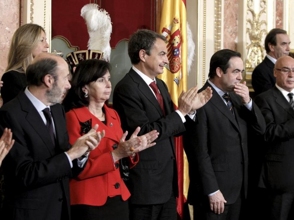 Zapatero, en el acto del Día de la Constitución, en el Congreso.