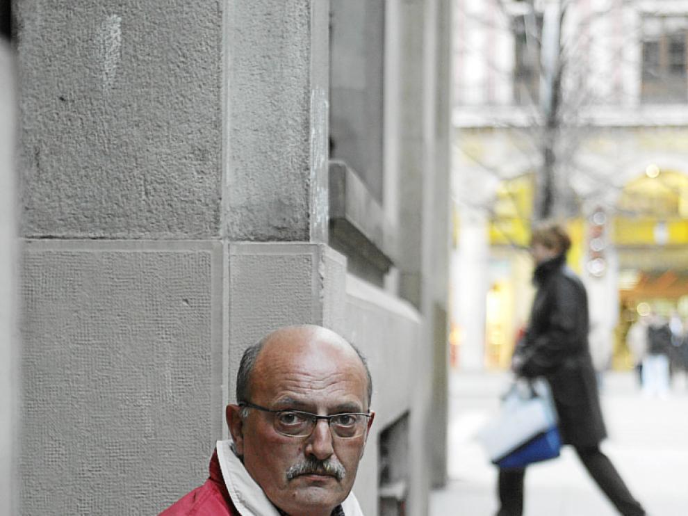 Fernando Artigas, en paro desde marzo de 2010.