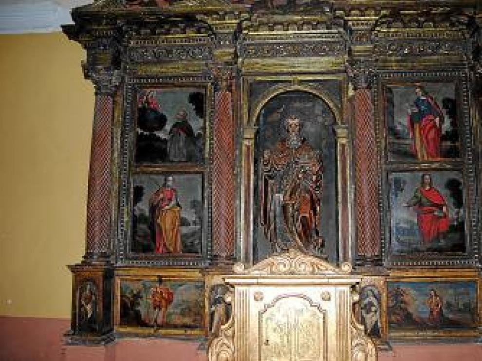 Vistal de cuerpo central del retablo.