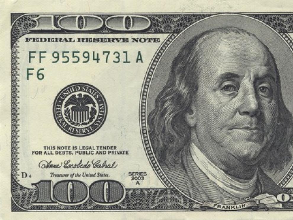 Billete de 100 dólares.