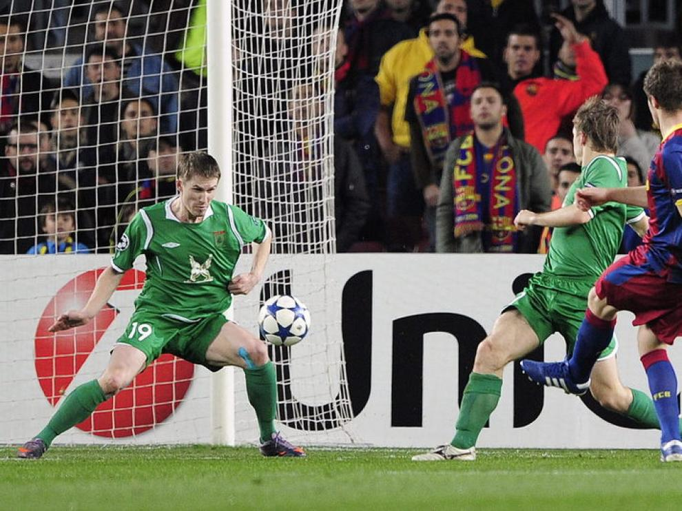 Fontás abrió el marcador para el Barcelona.