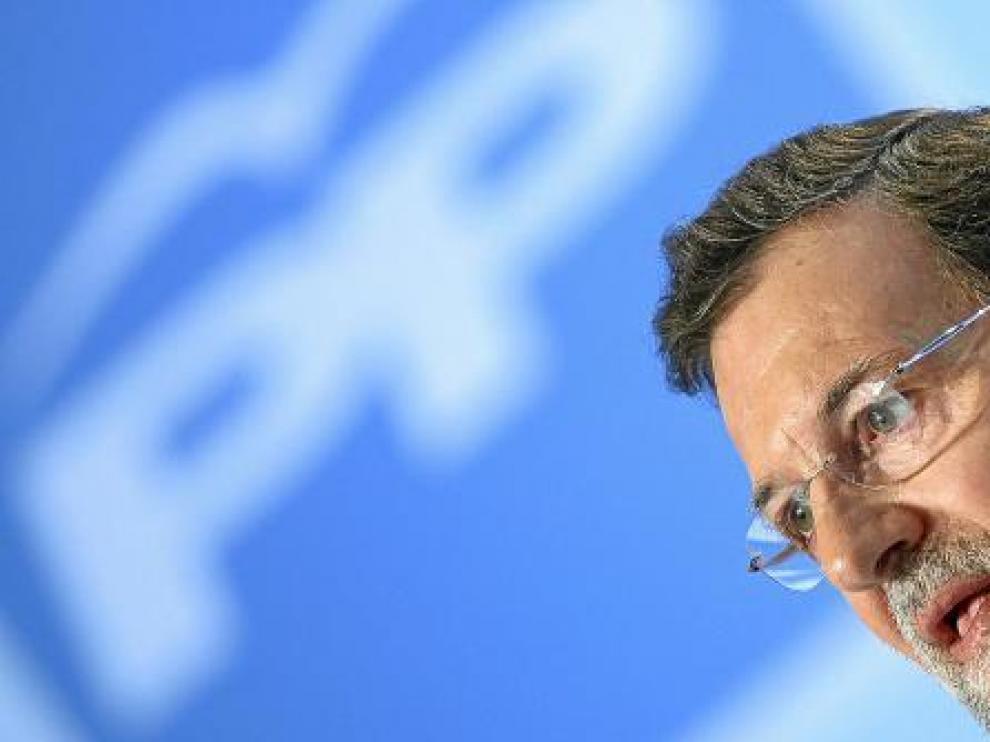 Mariano Rajoy, durante una comparecencia en la sede del PP en Barcelona, el pasado julio.