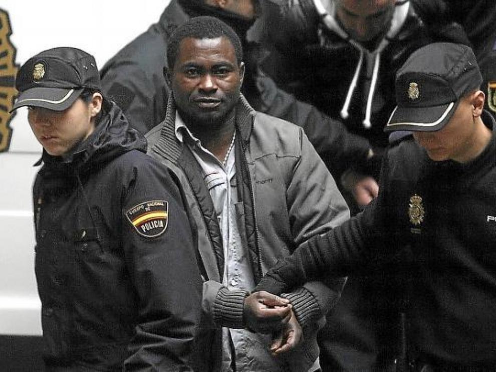 Michael Kofi, el día que fue juzgado en la Audiencia Provincial de Zaragoza.