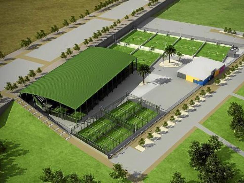 Recreación de las futuras instalaciones deportivas del parque del Agua.