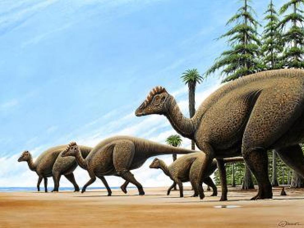 Recreación del Blasisaurus canudoi.