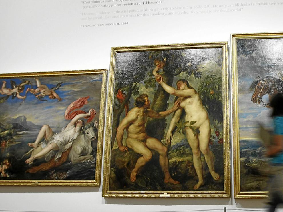 Aspecto de la presentación de la muestra de Pedro Pablo Rubens.