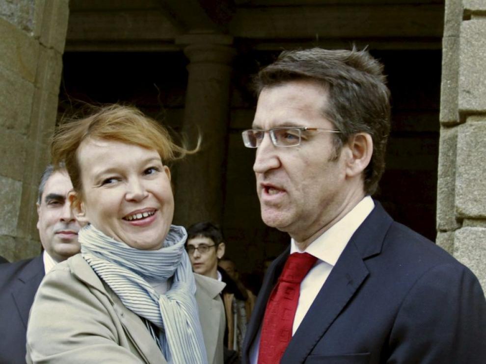 La ministra, hoy en Santiago.