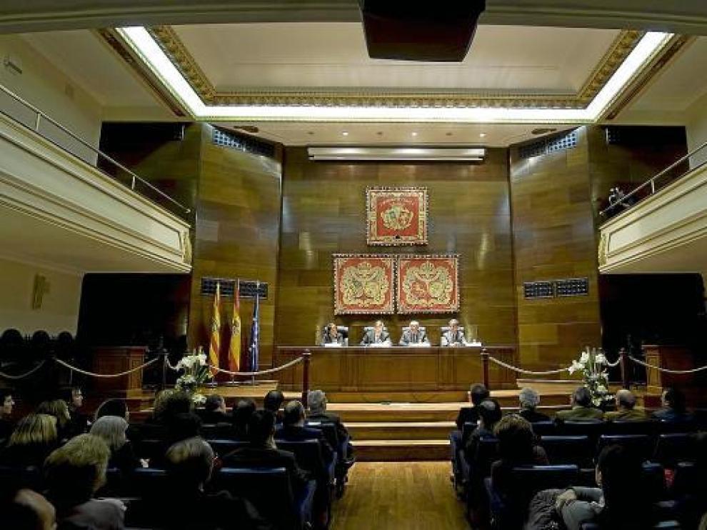 Uno de los últimos actos organizados en el Colegio de Abogados de Zaragoza.