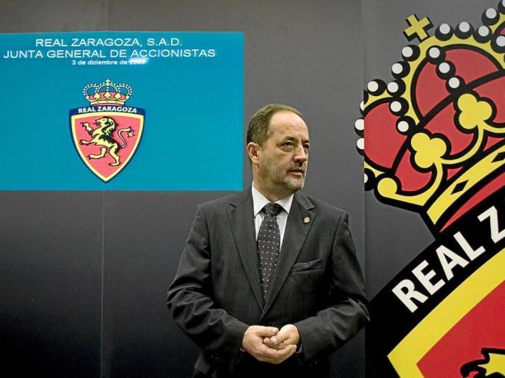 Agapito Iglesias, en la última Junta General Ordinaria.