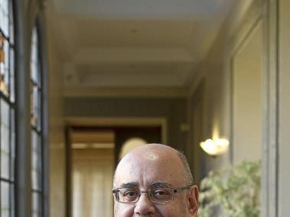 El catedrático Alfonso Calvo, el pasado jueves en Zaragoza.