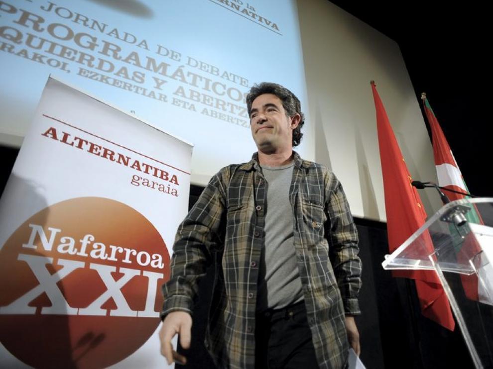 El portavoz 'abertzale' Santi Quiroga, en Pamplona