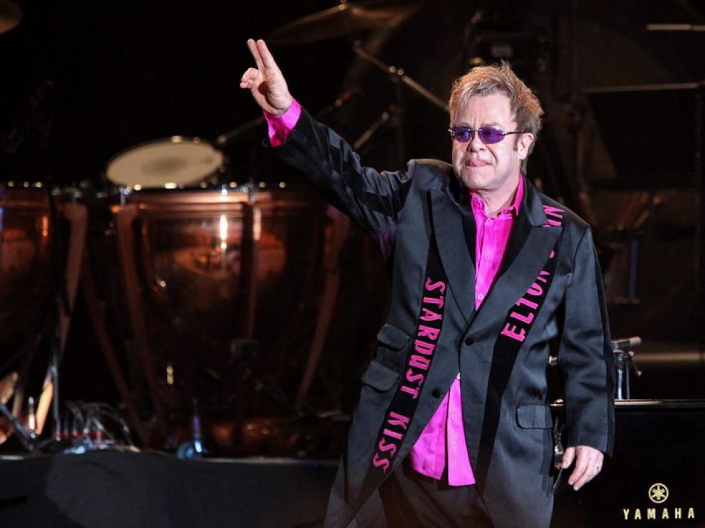 Elton John, el pasado martes, en un concierto en Hamburgo