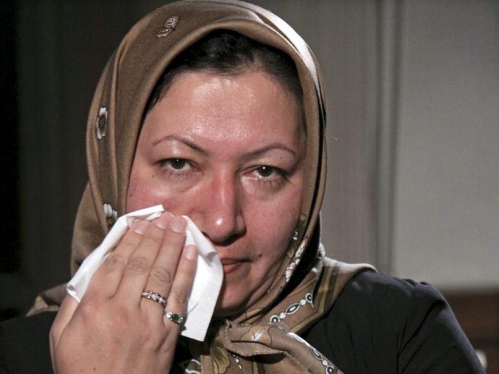 Imagen de Ashtiani llorando durante una entrevista, el pasado 4 de diciembre, en su pueblo, Tabriz