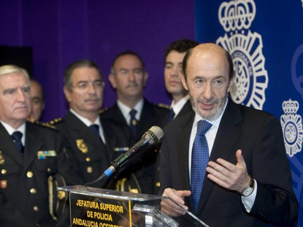 El vicepresidente y ministro del Interior, Alfredo Pérez Rubalcaba