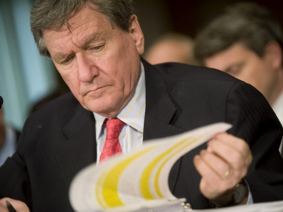 Richard Holdbrooke en el senado del Capitolio de Washington D. C., el pasado mes de julio