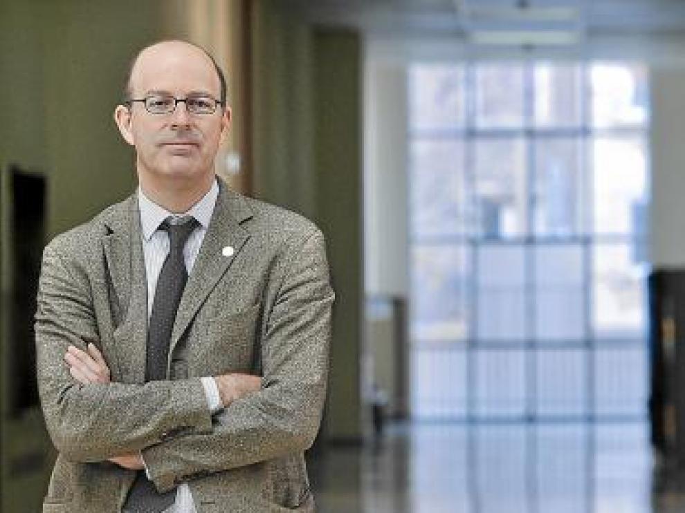 Pablo Vázquez, de FEDEA, ayer en la facultad de Económicas.
