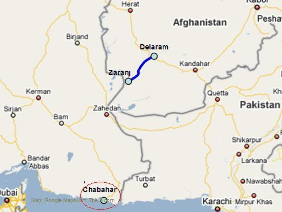 Lugar de la localización de Chabahar