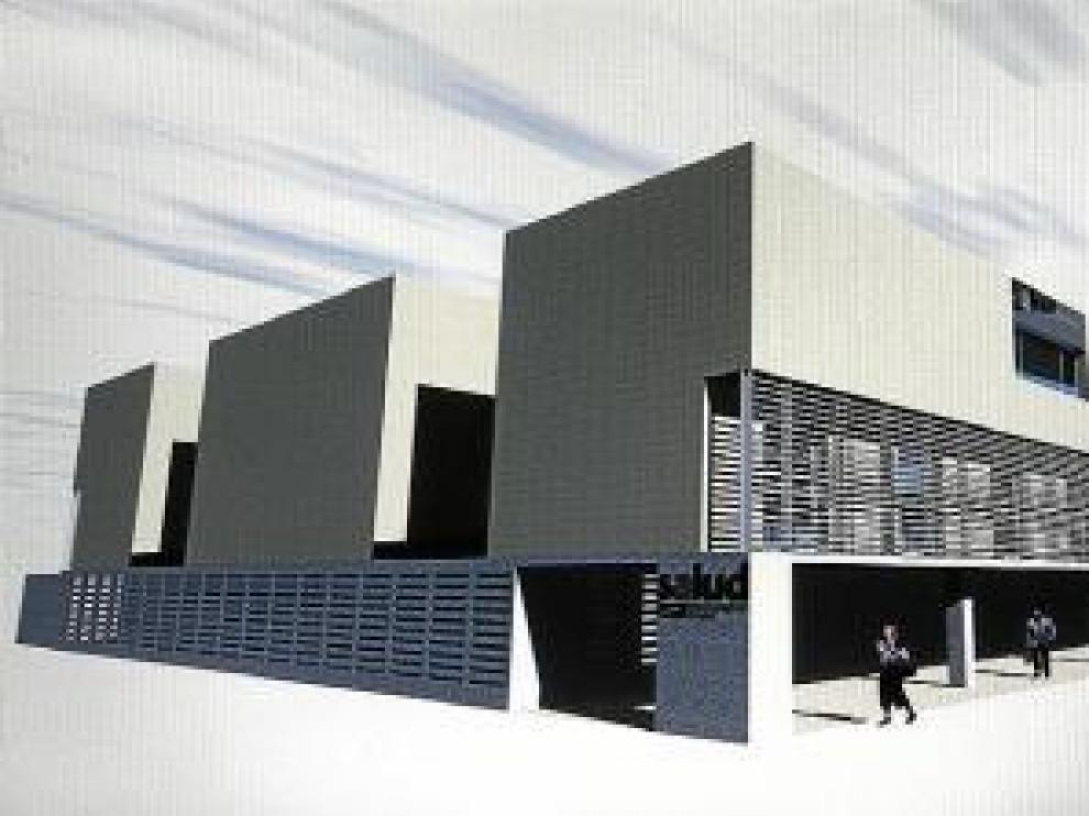 Recreación virtual del nuevo centro de salud.