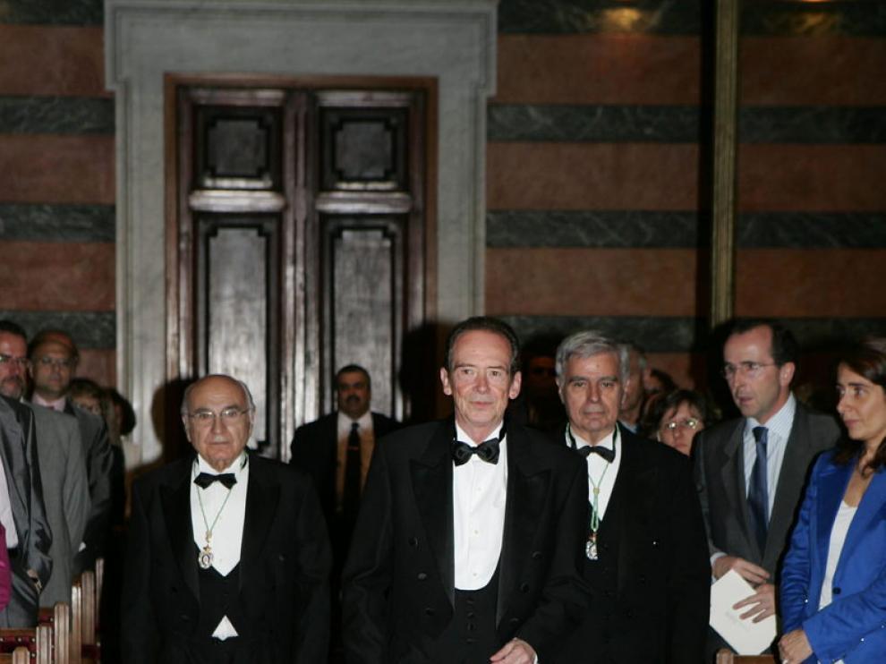 Blecua durante la ceremonia de su ingreso en la Real Academia Española.