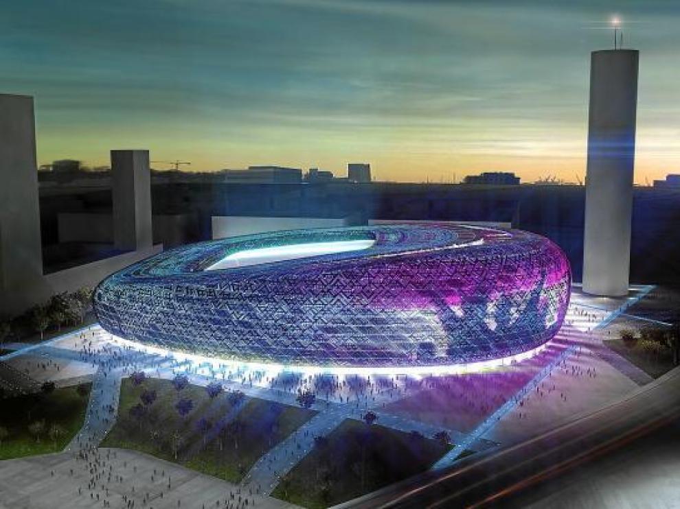 Recreación del campo de fútbol de San José, diseñado por el arquitecto Joaquín Sicilia.