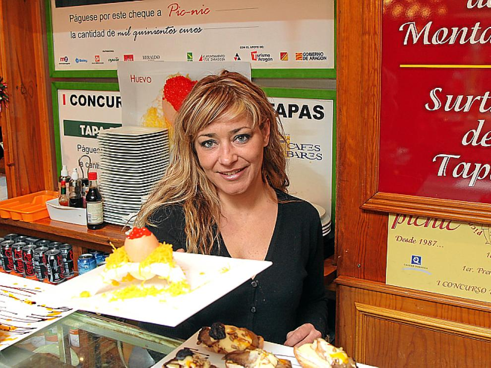 Lorena Pérez, en la barra del Pic Nic.