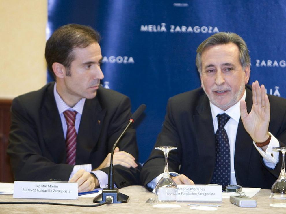 Antonio Morlanes (d) y Agustín Martín (i), responsables de la nueva fundación.