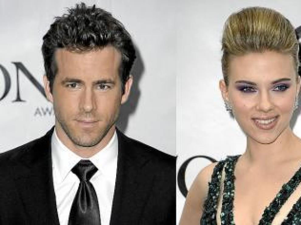Ryan Reynolds y Scarlett Johannson, separados pero por las buenas