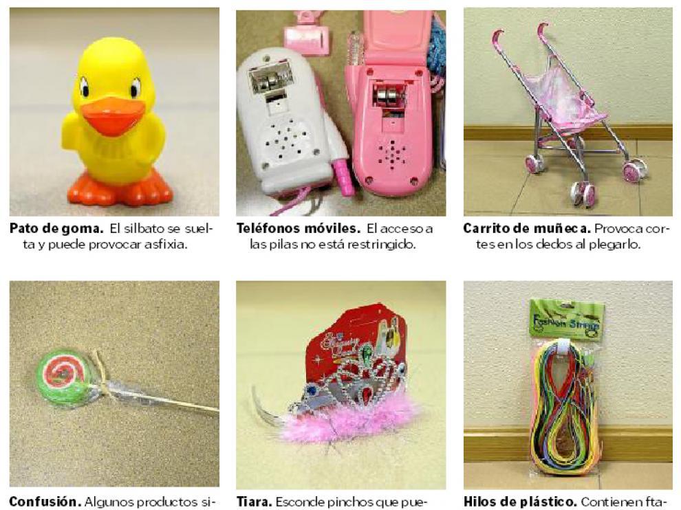 Algunos juguetes retirados.