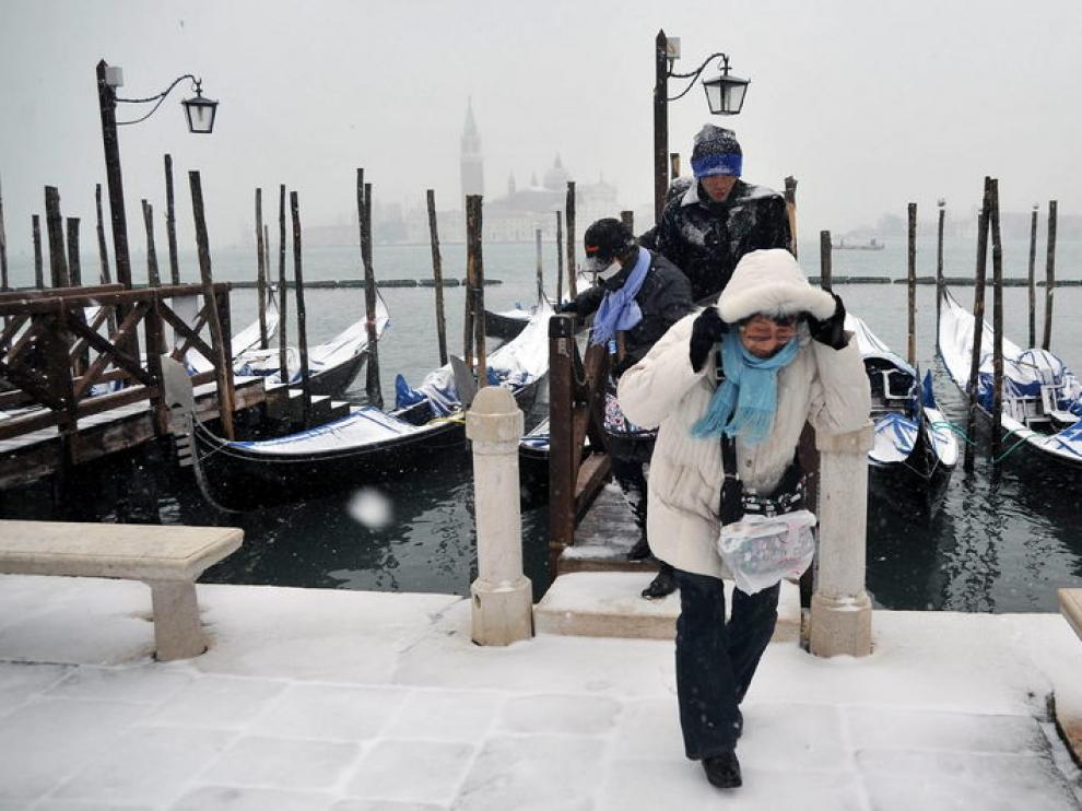 Nieve en Venecia