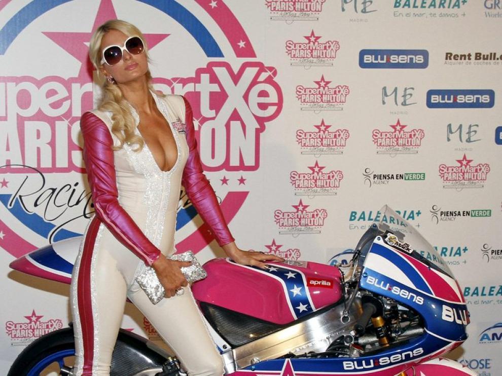 Paris en la presentación de su equipo de motos SuperMartxé.