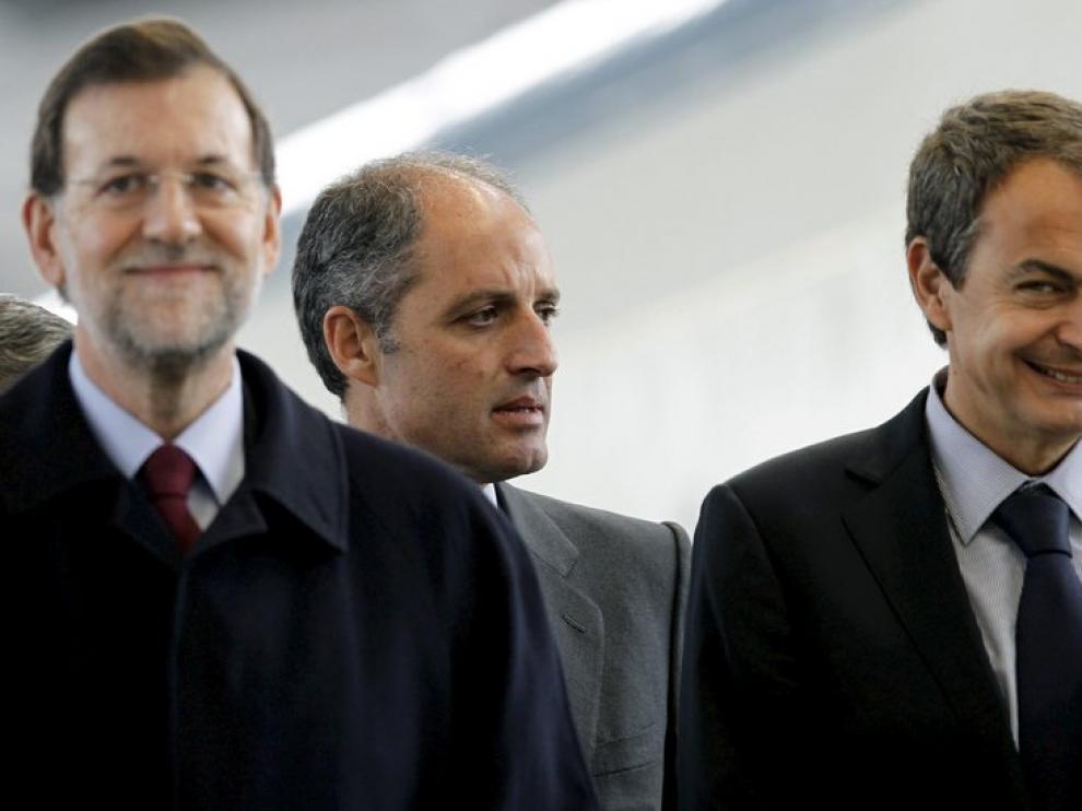 Rajoy, Camps y Zapatero.