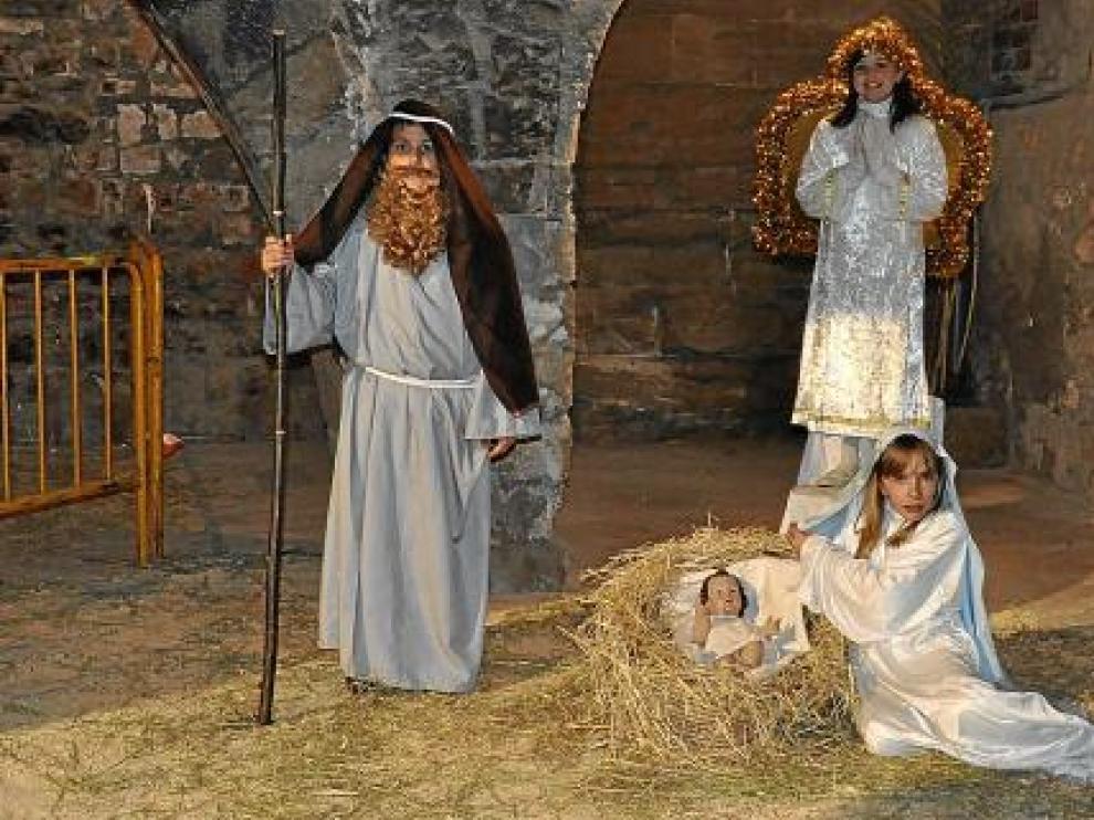 La estampa que representaban a José, a María y al ángel cerró el recorrido.