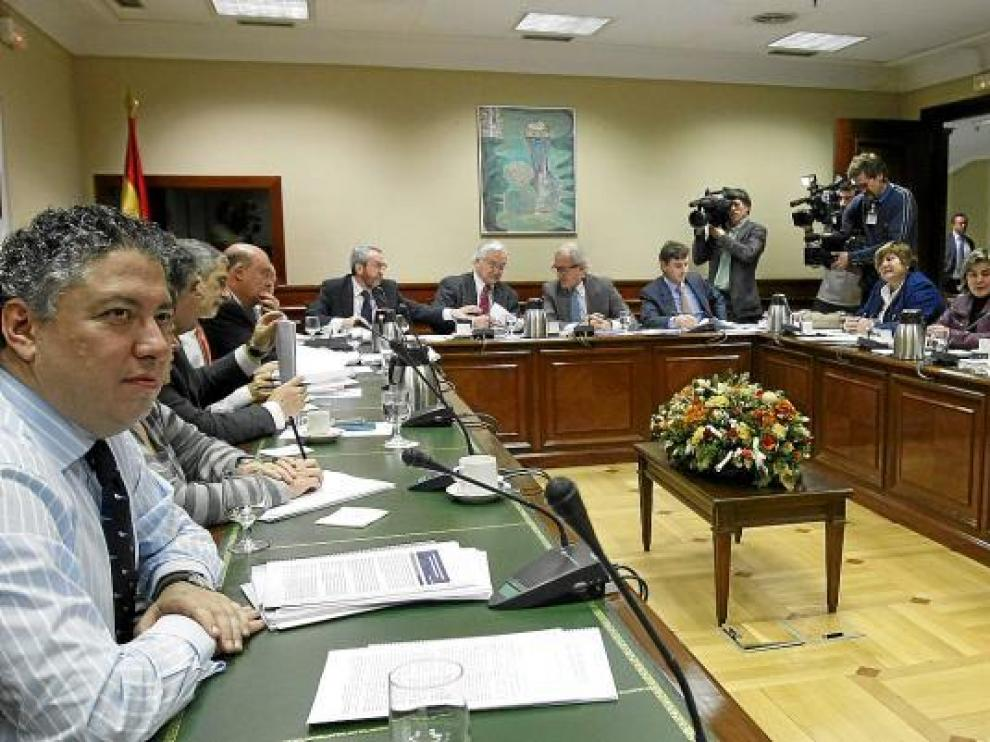 Imagen del pasado jueves de la reunión de la Comisión del Pacto de Toledo en Madrid.