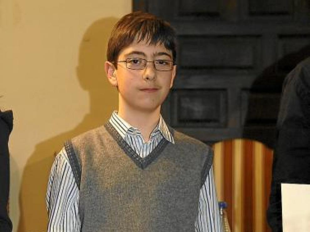 Javier Pomar, tras ganar el concurso de Teruel, en abril.