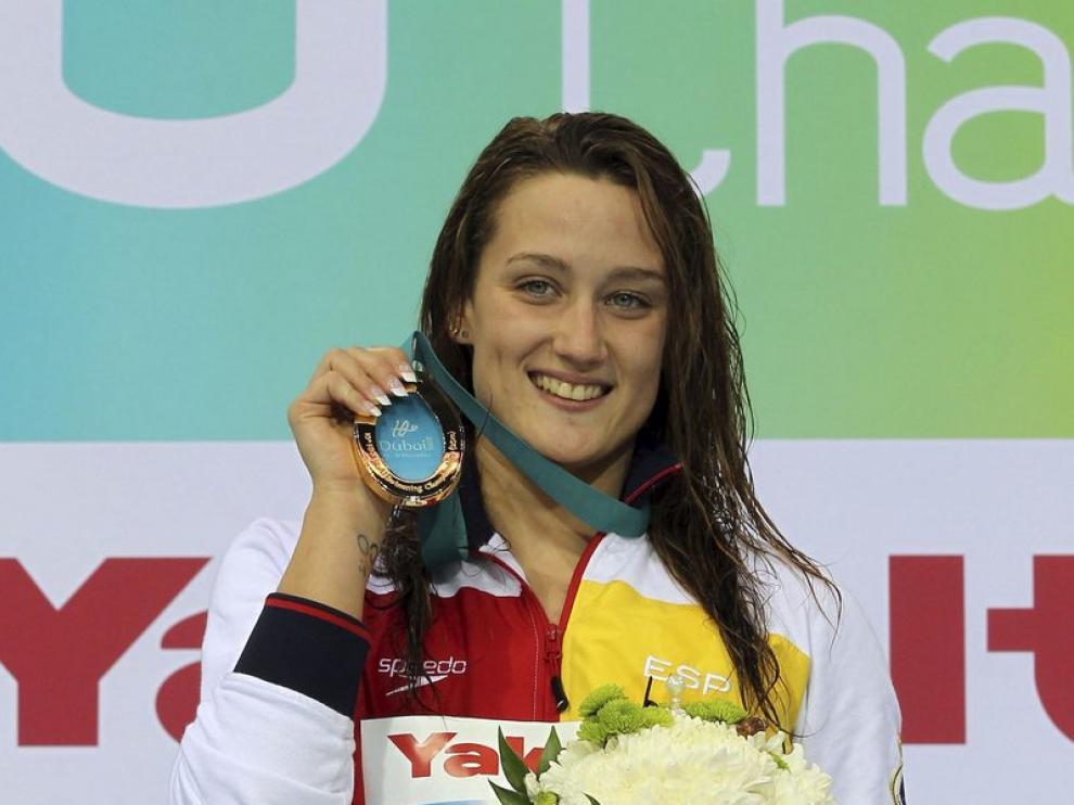 Mireia Belmonte celebra su triunfo