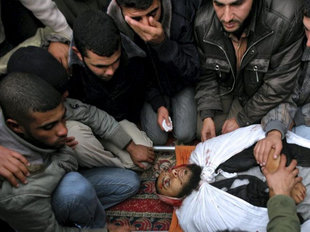 Un miliciano palestino fallecido en Gaza