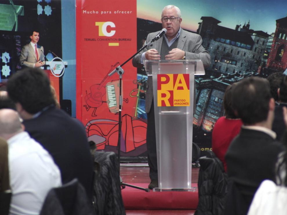José Ángel Biel durante su discurso.